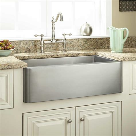 Stainless Farmhouse Kitchen Sinks 30 Quot Hazelton Stainless Steel Farmhouse Sink Kitchen