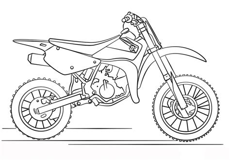 coloring pages of cars and motorcycles suzuki dirt bike motorcycle coloring page transportation