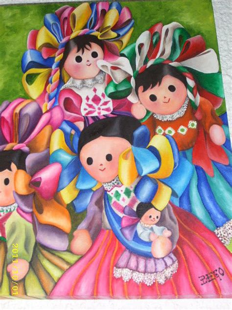 mexican rag doll mexican rag dolls painting by bego hoyos