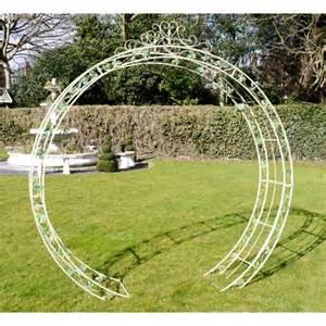Jo Bench Quot Alvanley Gardens Quot Cream Round Rose Arch Rose Arches