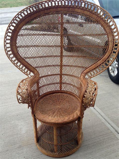 wicker fan  chair laurie jones home