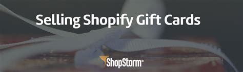 Shopify Gift Card App - create gift cards for your shopify store shopstorm