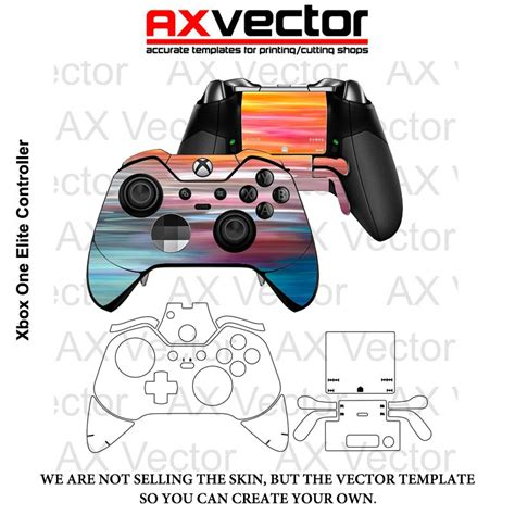 xbox controller skin template xbox one elite controller vector template accurate
