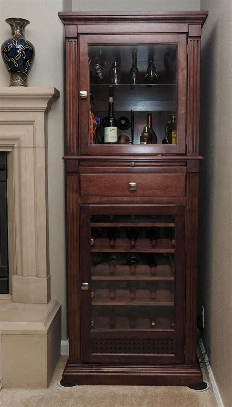 Vintage Kitchen Cabinets handmade wine cabinet curio display cabinet by ziegler