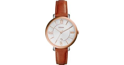 Fossil Es4046 fossil s jacqueline brown leather