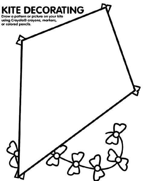 large kite coloring page kite decorating crayola co uk