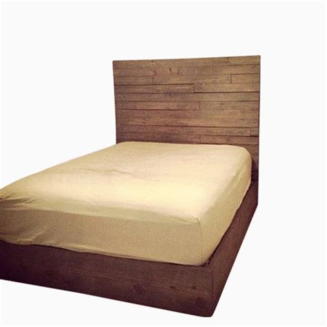 custom made headboards hand made rustic headboard and platform bed by mayhem