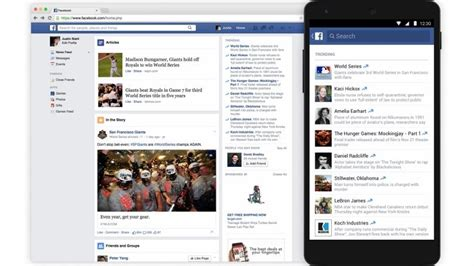 facebook about section facebook launches trending section on mobile news