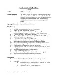 sle resume for records clerk sales clerk duties for resume