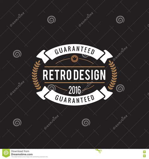 vintage classic design label elements vintage label badge logo elements frame luxury retro stock