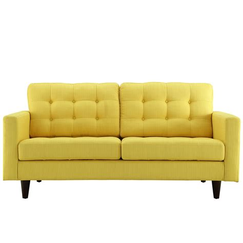 upholstered loveseats empress button tufted upholstered loveseat with wood legs