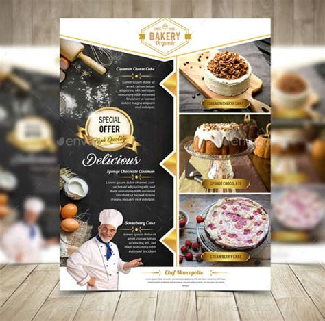 15 Bakery Flyers Design Trends Premium Psd Vector Downloads Cake Brochure Template Free