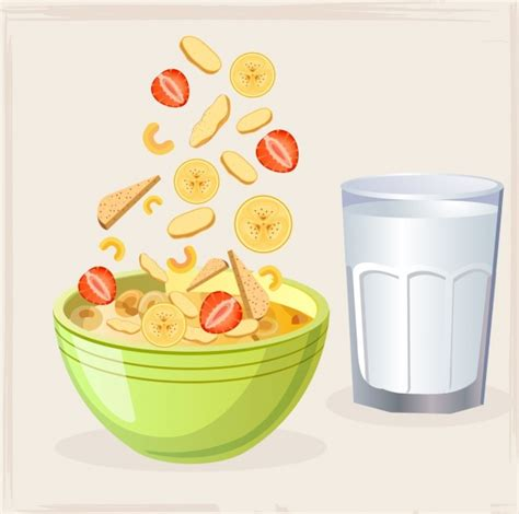 breakfast background breakfast background bow cup snack icons colored design