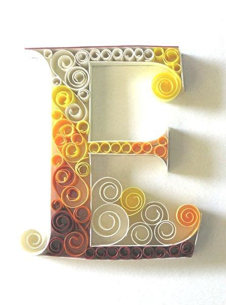 Craft Paper Letters - beautiful paper quilling letter patterns by sabeena karnik
