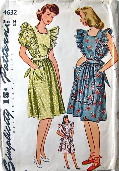 pattern pinafore apron simplicity 4632 apron pinafore dress sewing pattern by
