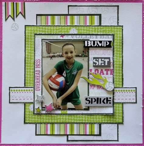 Scrapbook Layout Ideas For Volleyball | volleyball scrapbook com scrapbook sports pinterest