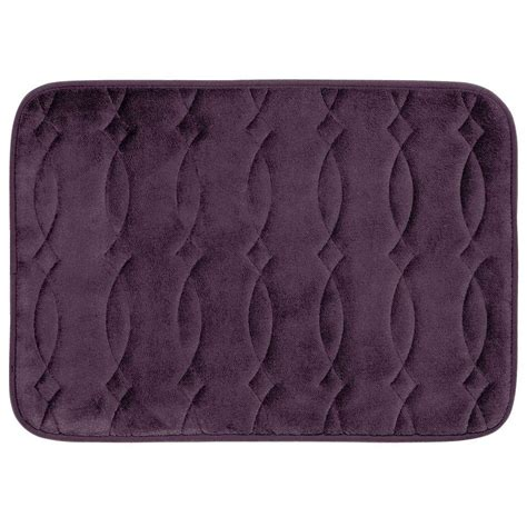 plum bathroom rugs bouncecomfort grecian plum 20 in x 34 in memory foam