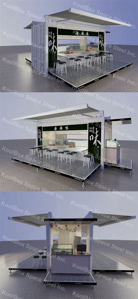 outdoor mobili koolbox container outdoor food kiosk mobile food kiosk