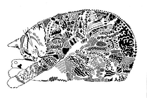 doodle cat 1000 images about risunki on zentangle