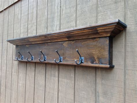 entry way shelf wall shelf with coat hooks entryway