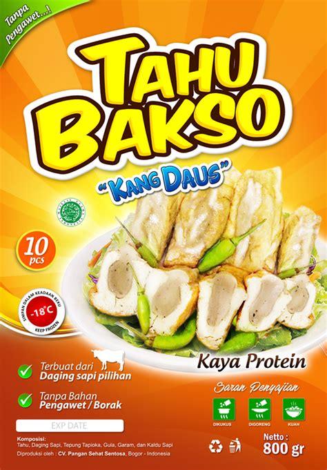 desain kemasan tahu sribu desain label desain label tahu bakso quot kang daus quot