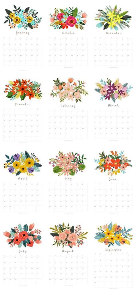 flower design kalender beautiful floral 2018 calendar monthly planner