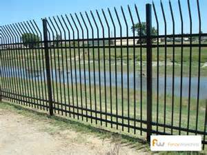 fence great metal fence design metal security fences steel commercial metal security fence