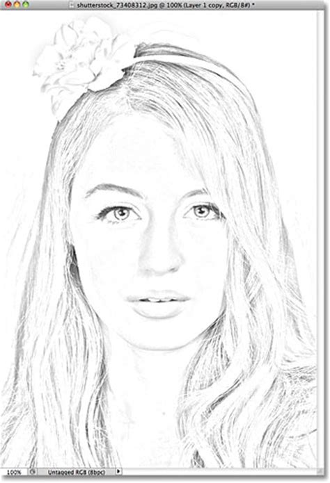 portrait photo to color sketch photoshop tutorial