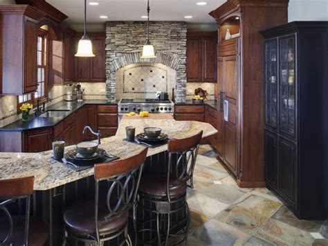 old world kitchens hgtv traditional kitchen with neutral tones and rich wood