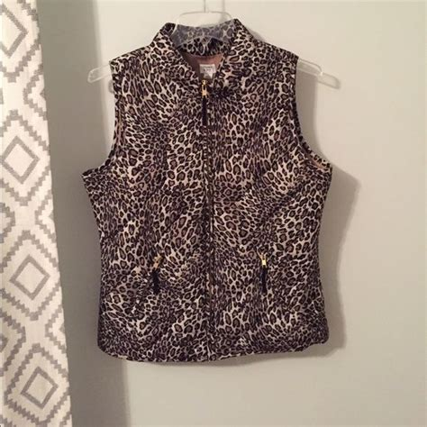 Thin Quilted Vest by Crown Leopard Print Quilted Vest Vests Coats And