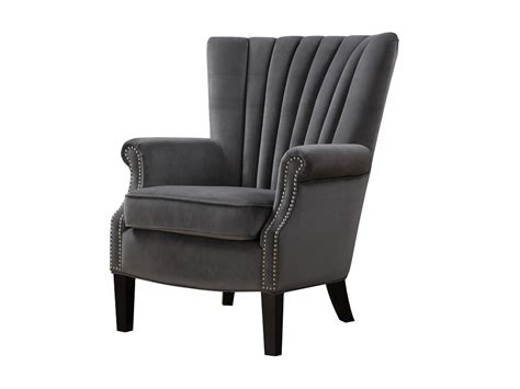 Grey Velvet Armchair by Stratford Chairs Country Carpets