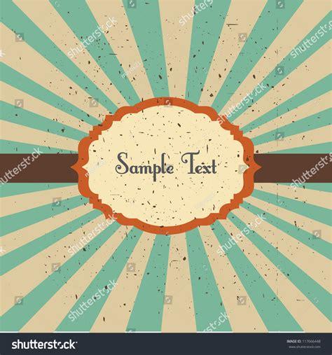sun rays template vector illustration vintage frame template design stock