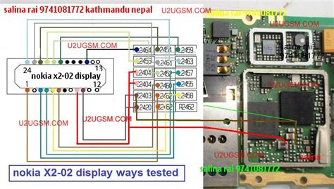 nokia x2 02 lcd display connector jumper solution ways