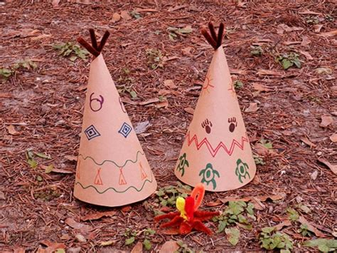 How To Make Paper Teepee - paper teepee decorations for thanksgiving make and takes