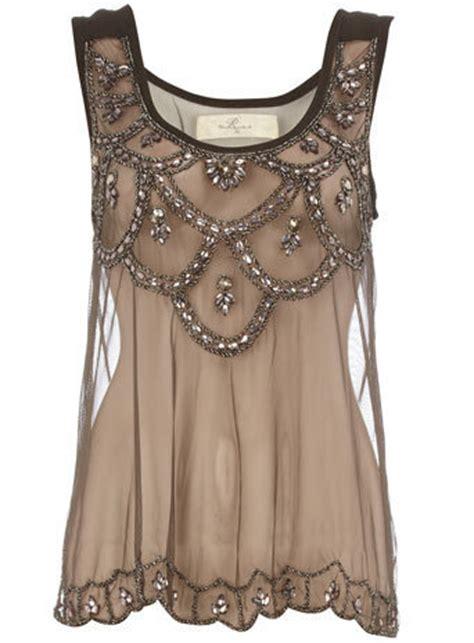 black embellished mesh vest fashion tops clothing