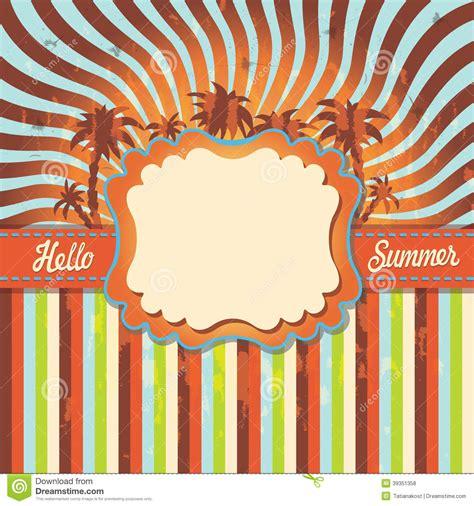 imagenes vintage verano verano del fondo hola con la palmera vintage ilustraci 243 n
