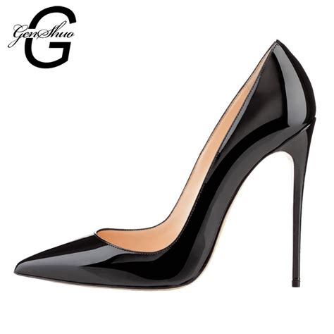 shoes with heels genshuo shoes 12cm high heels pumps high heels