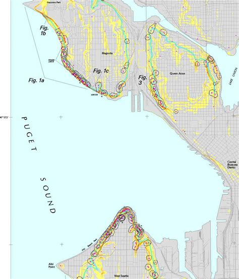seattle landslide map plate 1 preliminary map showing landslide densities
