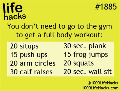 health exercise healthy workout gym hack life hacks life