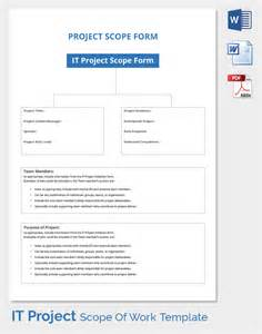 technical scope document template scope of work template 31 free word pdf documents
