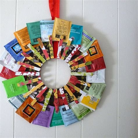 diy tea bag kitchen wreath this would be a great hostess