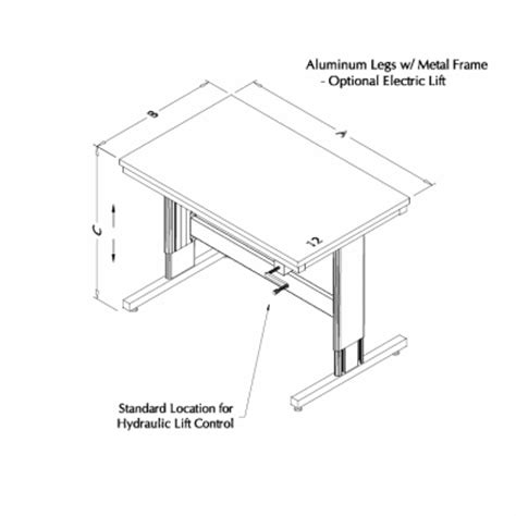 lift tables at rdm adjustable tables i107p