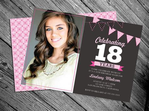 18th birthday invitation card template 30 birthday invitation designs free premium templates