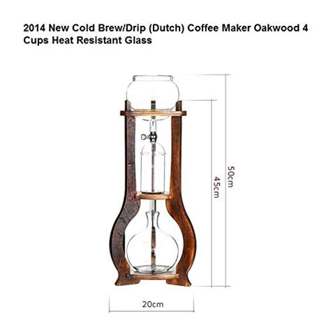 Gater Drip Pot Woodneck Clemex Cold Drip Coffee Maker W Filter Bag Bd4 boeng bd 7 cold drip coffee maker tower bd 17 oakwood 4 6 cups shop findsimilar