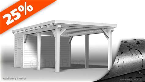 bausatz 3 0 x 6 5m flachdachcarport mit epdm ger 228 teraum - Doppelcarport Bausatz Flachdach