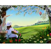 Beautiful Spring Painting High Definition Wallpaper