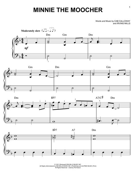 Minnie The Moocher | Sheet Music Direct Minnie The Moocher Chords