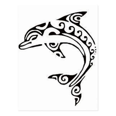 printable tattoo paper nz maori dolphin postcard zazzle