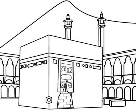 kaaba colouring pages