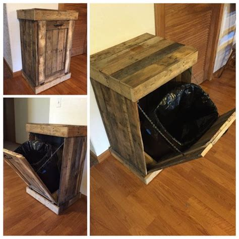 kitchen trash can ideas trash can cabinet rustic trash bin country living by